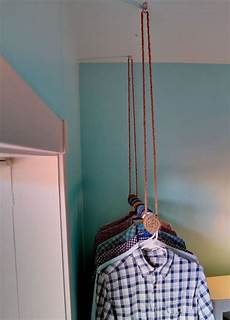 hanging rod for clothes mango out of the closet how to make a rope wrapped hanging