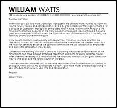 Operations Manager Cover Letter Samples Hotel Operations Manager Cover Letter Sample Cover