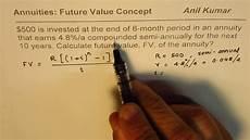 Future Value Of Calculate Future Value Of Semi Annual Annuity Discrete