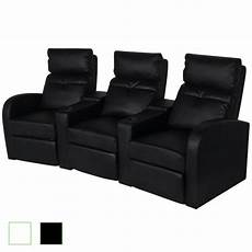 home cinema sessel artificial leather 3 seat home theater recliner sofa