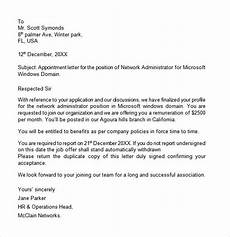 Appointment Letter For Job Format Free 11 Appointment Letter Templates In Google Docs Ms