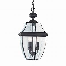 Outdoor Pendant Lighting Sea Gull Lighting Lancaster 3 Light Black Outdoor Hanging