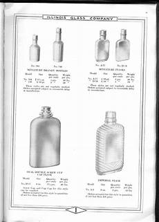 Liquor Bottle Sizes Chart Illinois Glass Co 1920 Catalog