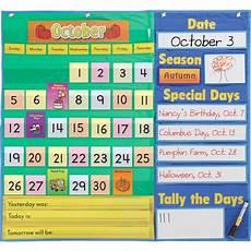 Pocket Chart Design Today S Calendar Pocket Chart Walmart Com