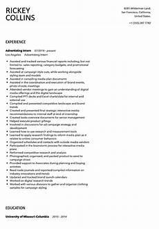 Advertising Internship Resume Advertising Intern Resume Sample Velvet Jobs