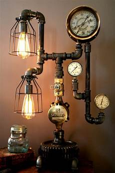 Steampunk Ceiling Fan With Light Steampunk Lamps Lighting And Ceiling Fans