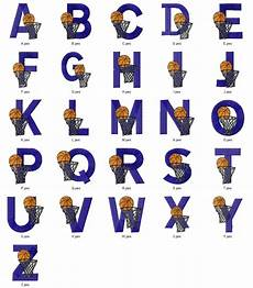 Basketball Font Basketball Sports Alphabets Font Embroidery Designs
