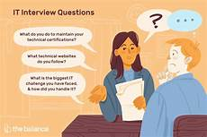 Working Interview Tips Information Technology It Job Interview Questions