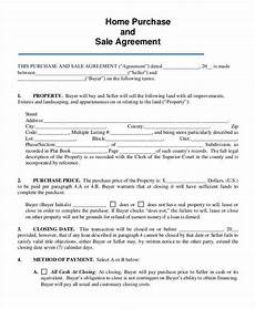 Sale Contract Samples Free 8 Home Sales Contracts Samples Amp Templates In Pdf