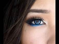 modern blue eye makeup day or