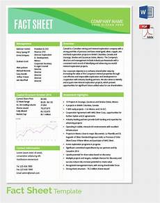 How To Make A Fact Sheet On Word Fact Sheet Template 32 Free Word Pdf Documents