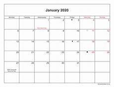 2020 Printable Monthly Calendar With Holidays January 2020 Calendar Printable With Bank Holidays Uk