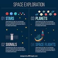 Chart Of Space Exploration Space Exploration Infographic Free Vector