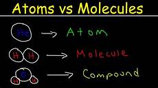 Molecule Vs Atom Elements Atoms Molecules Ions Ionic And Molecular