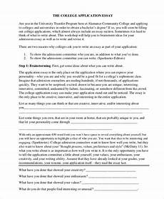 Example Of A College Admission Essay Free 8 Sample College Essay Templates In Ms Word Pdf