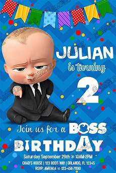 Baby Birthday Party Invitation Novel Concept Designs Boss Baby Banner Movie