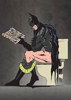 Batman Potty Batman On The Toilet Print By Lime Lace