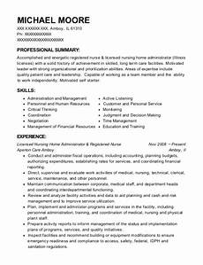 Nursing Home Administrator Cover Letter Nursing Home Administrator Cv June 2020