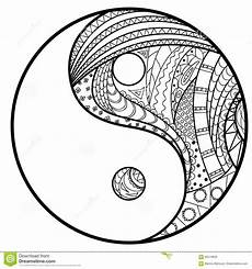 yin and yang stock vector illustration of contour indian