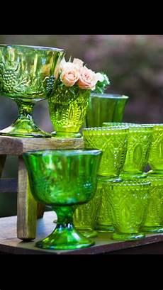 Light Green Vintage Glassware Vintage Green Glassware Dixidoesvintage Dixie Does