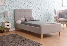 gfw ashbourne 3ft single light grey fabric bed frame by gfw