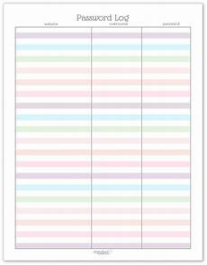 Password Journal Template Colourful Address Book And Password Log Printables
