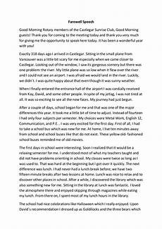 Template For A Speech Free 16 Farewell Speech Examples In Pdf Examples
