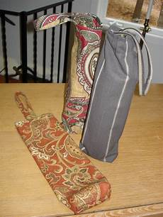 wine totes from upholstery sles fabric decor scrap