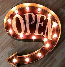 Alcohol Light Up Signs Open Arrow Marquee Light Up Sign From The Electric Moon