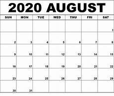 August 2020 Calendar With Holidays August 2020 Calendar Printable With Holidays Free