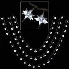 80 Multi Function Led White Star Christmas Fairy Lights