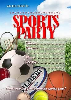 Free Invite Free Kids Party Invitations Sports Party Invitation