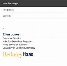 Email Signature Example Email Signatures Brand Toolkit Berkeley Haas