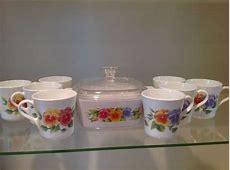 Vintage Corningware Summer Blush Pansy one casserole A.1.5
