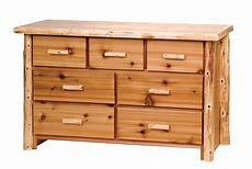 timberland cedar log 7 drawer dresser rustic furniture