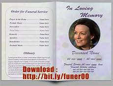 Funeral Program Templates Free Free Editable Memorial Service Program Template Http