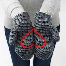 crochet mittens by eka notonthehighstreet