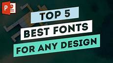 Best Graphic Design Fonts Top 5 Best Fonts For Any Graphic Design Project Youtube