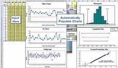 Xbar And R Chart Excel Xbarr Chart Template In Excel Xbarr Six Pack