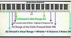 Octave Range Chart Counted Dimash S Voice Range 6 Octaves Dimash