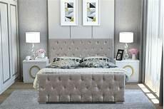 diamante crushed velvet bed shop livingsocial
