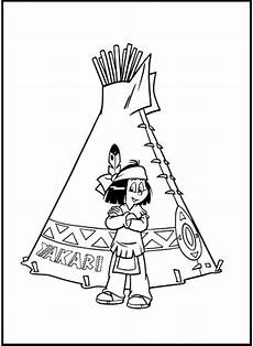 take a picture yakari in tent coloring picture for