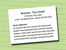 Writing Career Objectives How To Write A Career Objective 5 Steps With Pictures