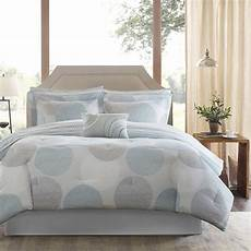 beautiful modern contemporary blue aqua grey comforter
