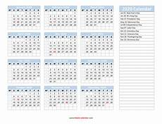 Yearly Calendar 2020 Printable Yearly Calendar 2020 Free Download And Print