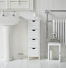 dorset 25cm wide narrow white bathroom storage furnitue