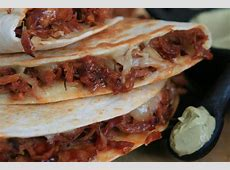 Pulled Pork Quesadilla with Chipotle Cola BBQ Sauce and