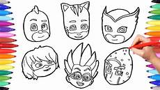 how to draw all pj masks faces pj masks characters pj
