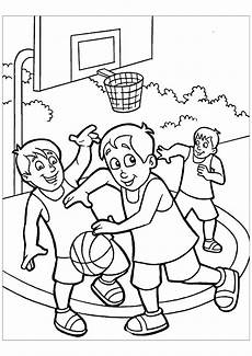 Malvorlagen Spielende Kinder Basketball Free To Color For Basketball