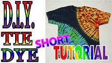 How To Make A Black Light Shirt Diy Sun And Earth Tie Dye Shirt Short Tutorial 53 Youtube